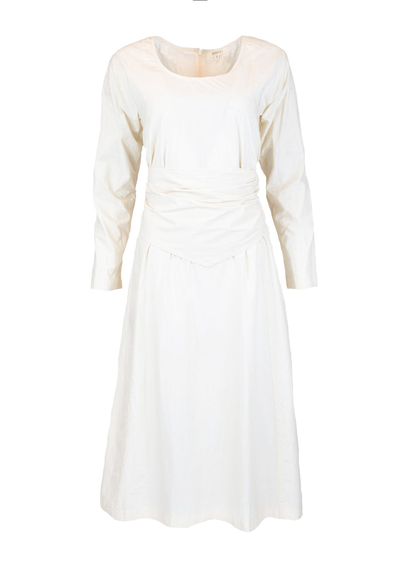 Rent Ghospell White Belted Midi Dress from Rotaro