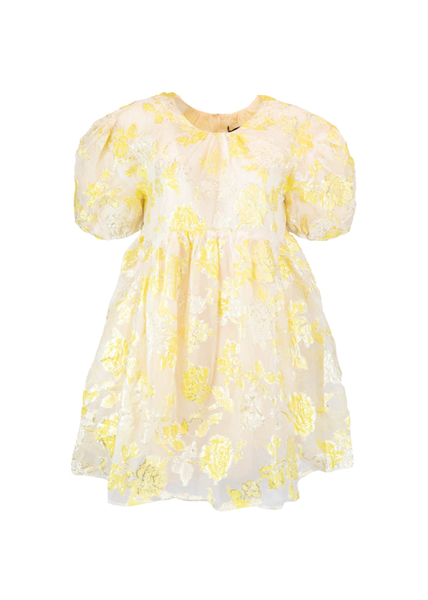 Rent Sister Jane Lemon Floral Smock Mini Dress from Rotaro