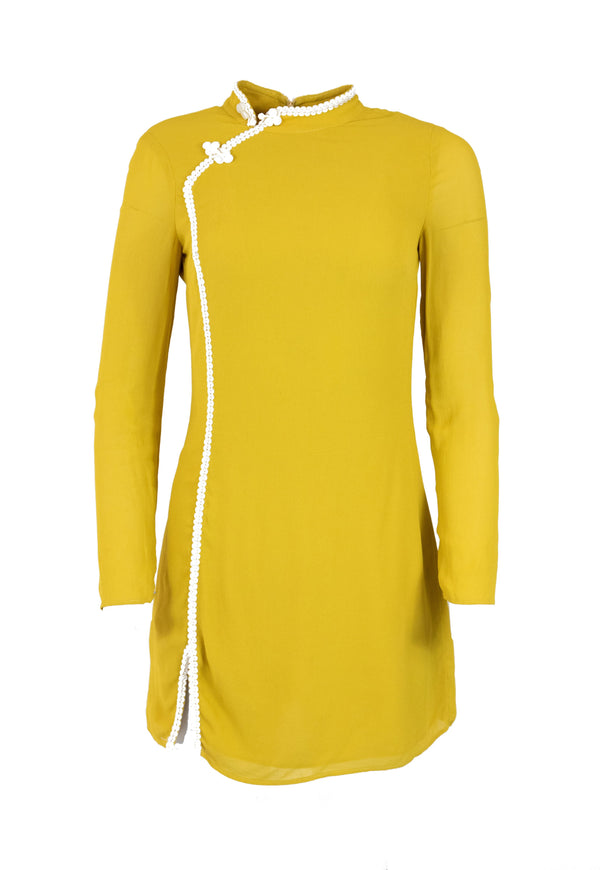 Rent Reformation Yellow Chinois Mini Dress from Rotaro