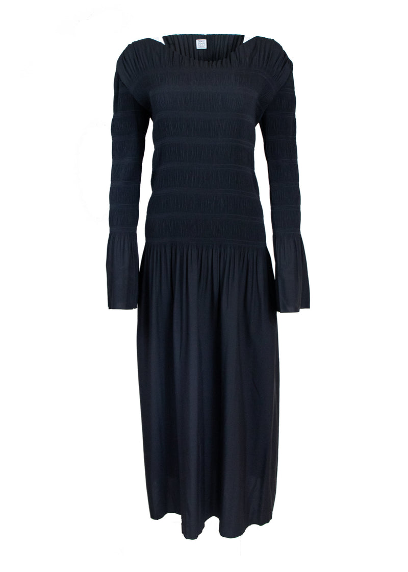 Rent Totême Black Long Sleeve Maxi Dress from Rotaro