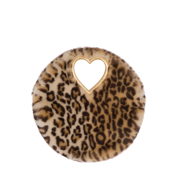 Rent Shrimps Faux Fur Leopard Round Tote from Rotaro