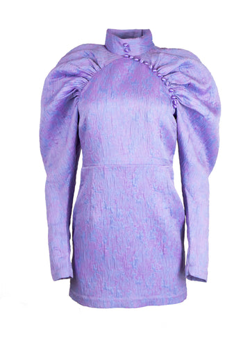 Rent ROTATE Birger Christensen Purple Puff-Sleeve Mini Dress from Rotaro