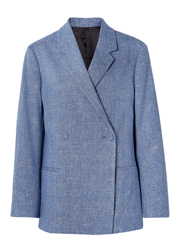 Rent Totême Blue Double Breasted Blazer from Rotaro