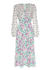 Rent RIXO Floral Silk Chiffon Midi Dress from Rotaro