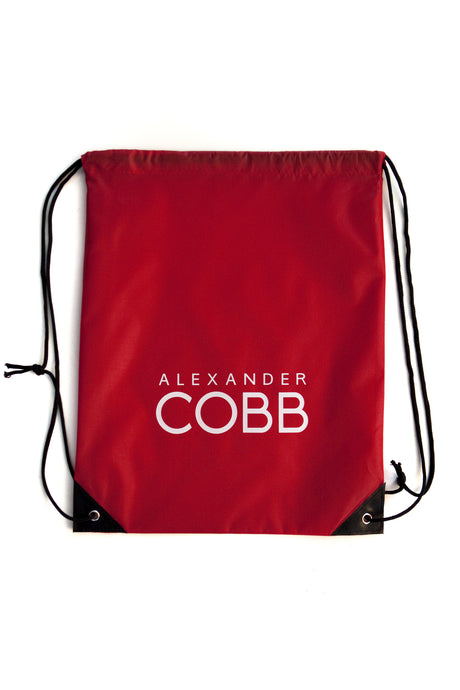 Alexander COBB - Drawstring Backpack Red