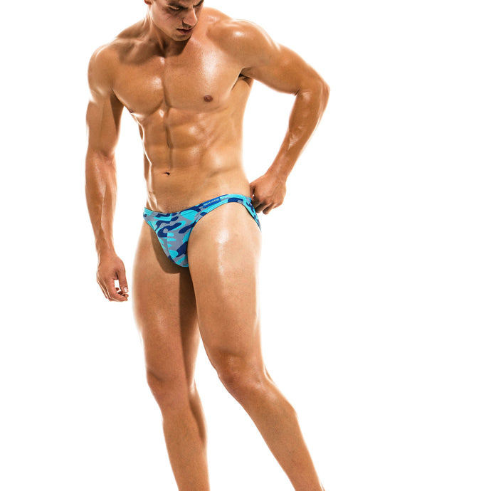 Modus Vivendi Camo Marine Low Cut Swim Brief - Aqua