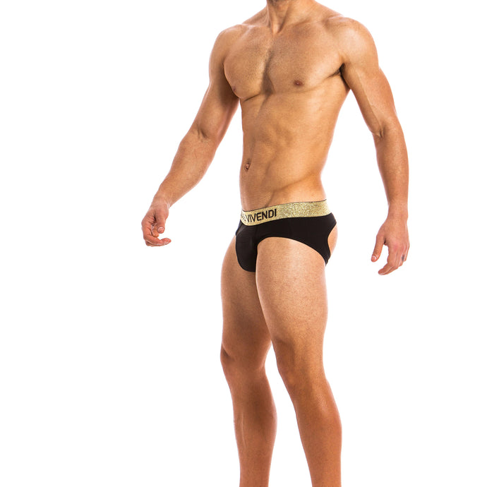 Modus Vivendi Festive Bottomless Brief - Black