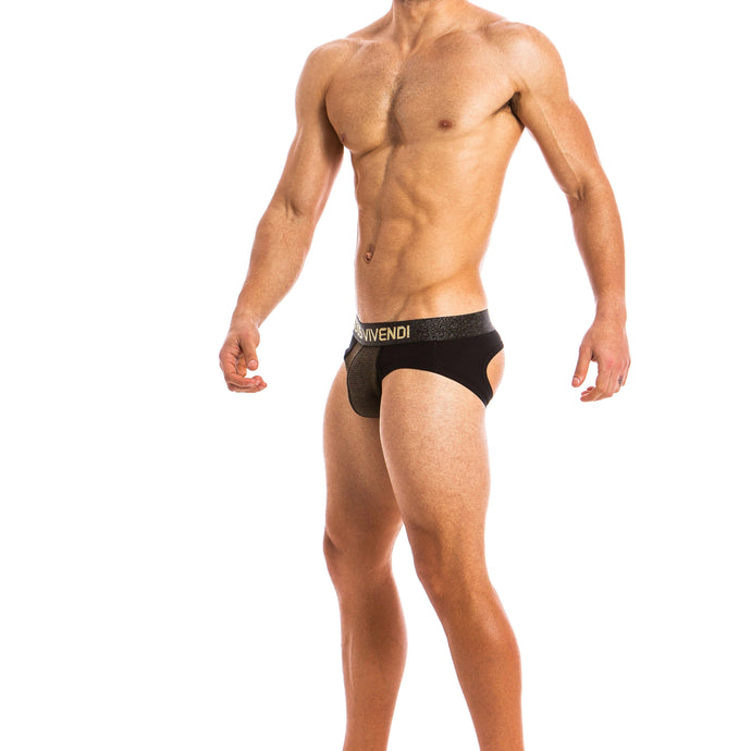 Modus Vivendi Festive Bottomless Brief - Gold