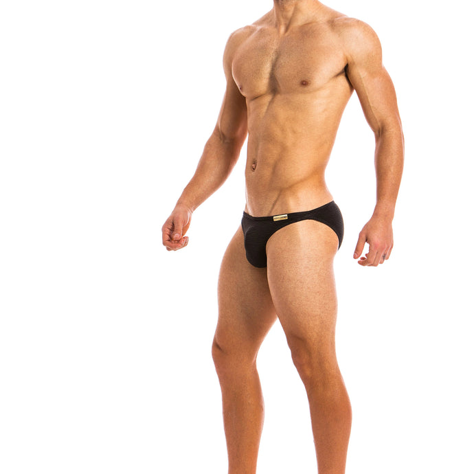 Modus Vivendi Festive Low Cut Brief - Black