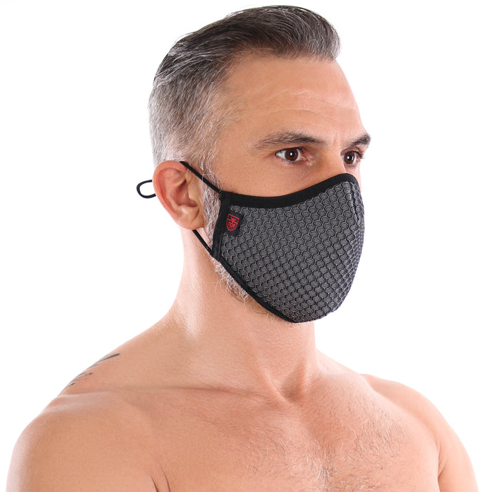 TOF Paris 3D Seamless Face Mask - Grey