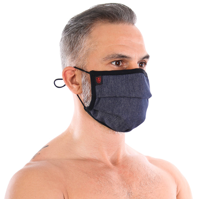 TOF Paris Pleated Face Mask - Denim