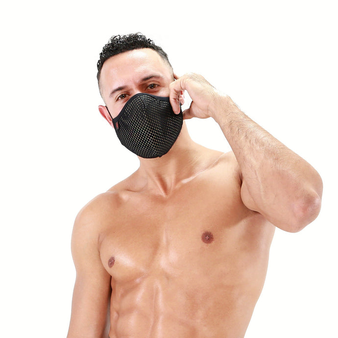 TOF-Paris-Mesh-Seamless-Face-Mask-Black-Khaki