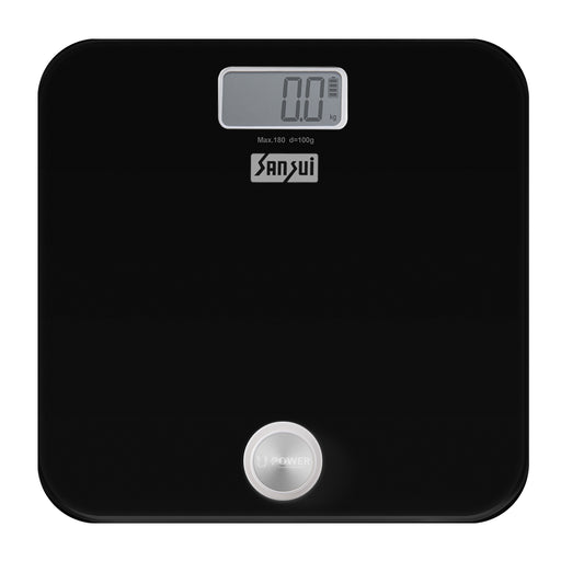 Sansui Electronics Battery-free Digital Bathroom Body Weighing Scale (180 kg, Black)