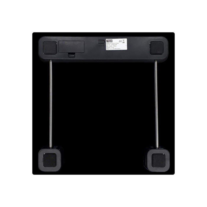 Sansui Electronics Digital Personal Body Weight Scale with Step-On Technology, 180 kg (Black)