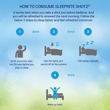 Load image into Gallery viewer, SleepRite Shotz Combo - Pack of 6 (3 Berry Fusion + 3 Litchi-licious) for Calm & Restful Sleep