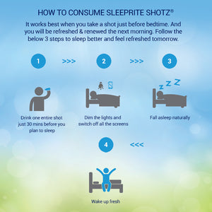 SleepRite Shotz Combo - Pack of 6 (3 Berry Fusion + 3 Litchi-licious) for Calm & Restful Sleep