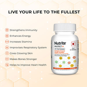 Nutrite™ Protect Plus Multivitamins with Immunity Booster Health Complex Formula | 60 Softgels