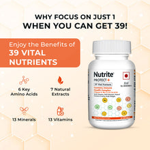 Load image into Gallery viewer, Nutrite™ Protect Plus Multivitamins with Immunity Booster Health Complex Formula | 60 Softgels