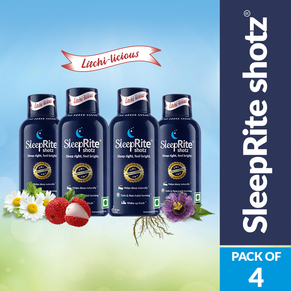 SleepRite Shotz Litchi-Licious (Pack of 4)