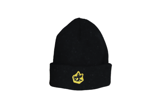 Bee Patch New Era Beanie - Speckled Black