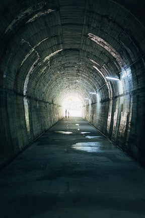 A tunnel and the light at the end of it