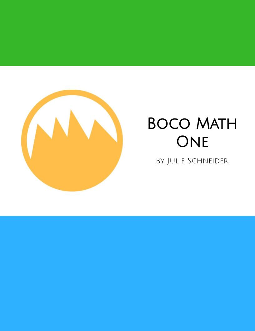 Boco Math One: Your New Favorite Way to Think about Mathematics