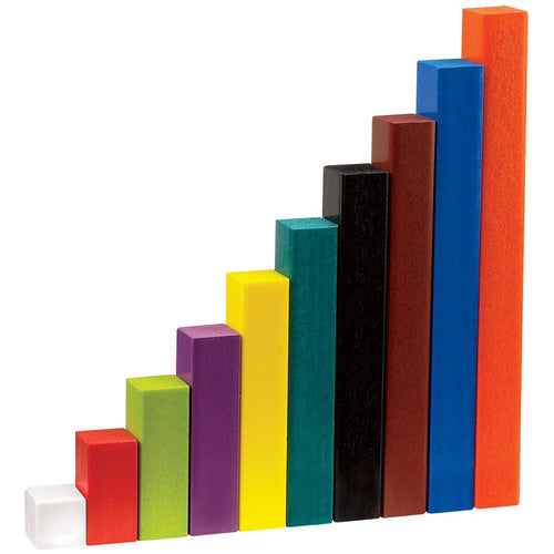 hand2mind Plastic, Assorted Colors, Wooden-Alternative Cuisenaire Rods (Set of 74)