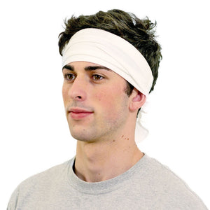 KOOSHOO Kundalini Yoga White Head Covering | Unisex, Organic Cotton Bandana Headband Wicks Sweat, Fits and Covers The Crown