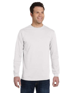 econscious 5.5 oz., 100% Organic Cotton Classic Long-Sleeve T-Shirt M WHITE