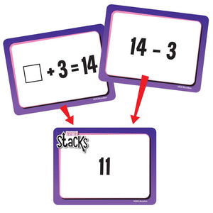 EAI Education Math Stacks Addition & Subtraction Game: Grades 1-2