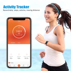 Toobur Activity Tracker, Slim Waterproof Fitness Tracker Watch with Pedometer Calories and Sleep Monitor, Step Counter Wristband Smart Watch for Kids Women Men-Green