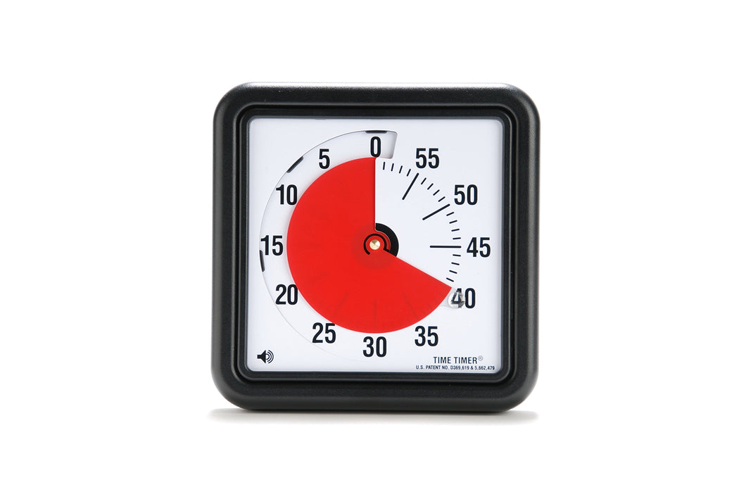 Time Timer Original 8 inch; 60 Minute Visual Timer – Classroom Or Meeting Countdown Clock for Kids and Adults (Black)