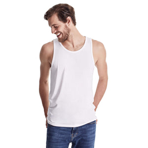 TRUTH ALONE Men's Tank, 100% Organic Peruvian Pima Cotton White