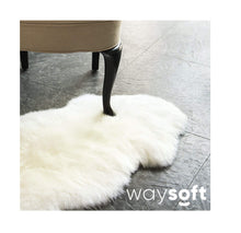 Load image into Gallery viewer, WaySoft Genuine New Zealand Sheepskin Rug, Luxuxry Fur Rug for Bedroom, Fluffy Rug for Living Room (Single Pelt, Natural)