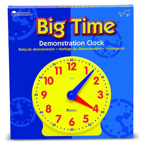 Learning Resources Big Time Learning Clock, 12 Hour, Basic Math Development, Ages 5+