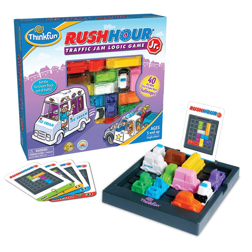 ThinkFun Rush Hour Junior Traffic Jam Logic Game and STEM Toy for Boys and Girls Age 5 and Up - Junior Version of the International Bestseller Rush Hour