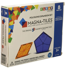 Load image into Gallery viewer, Magna-Tiles 8-Piece Polygons Expansion Set – The Original, Award-Winning Magnetic Building Tiles – Creativity and Educational – STEM Approved