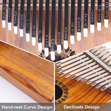 Load image into Gallery viewer, Kalimba Thumb Piano 17 Keys, Portable Mbira Finger Piano Gifts for Kids and Adults Beginners