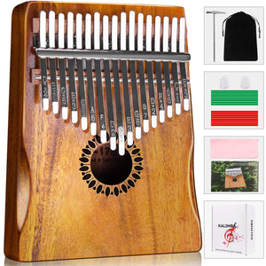 Kalimba Thumb Piano 17 Keys, Portable Mbira Finger Piano Gifts for Kids and Adults Beginners