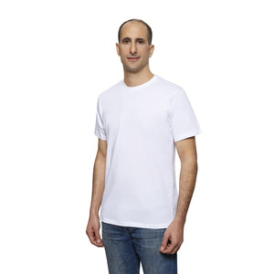 Organic Signatures Cotton T Shirt for Men, Crew Neck, Short Sleeve (Large, White)