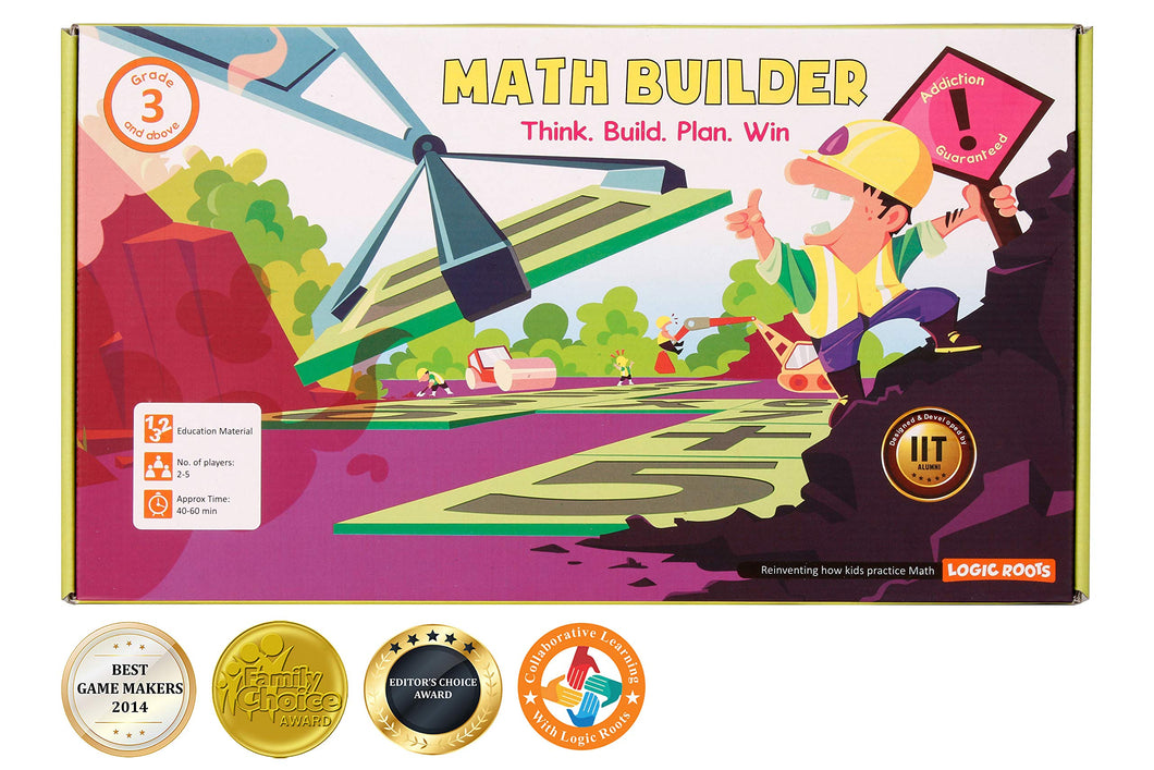 LogicRoots Math Builder Equation Building# Board Game Stem Toy Math Manipulative