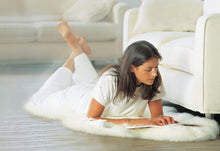 Load image into Gallery viewer, Super Area Rugs, Genuine Australian Sheepskin Rug Two Pelt Ivory Natural Fur, 2x6 Double