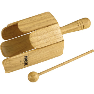 Nino Percussion NINO556 Wood Stirring Drum With Handle & Beater, Natural Finish