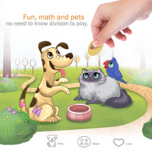 Load image into Gallery viewer, STEM game PET ME for Multiplication and Division math board game- Easy start educational game Perfect learning gift for girls and boys 7 and up Pet wonderland adventure game for family