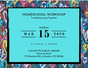 Homeschool Workshop Registration: Troubleshooting Together