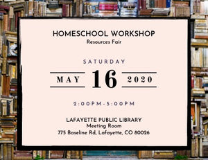 Homeschool Workshop Registration: Homeschool Resources Fair