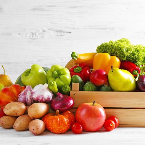 Conventional Mixed Fruit & Veggie Box 25 lb - Dosner Organics Farms