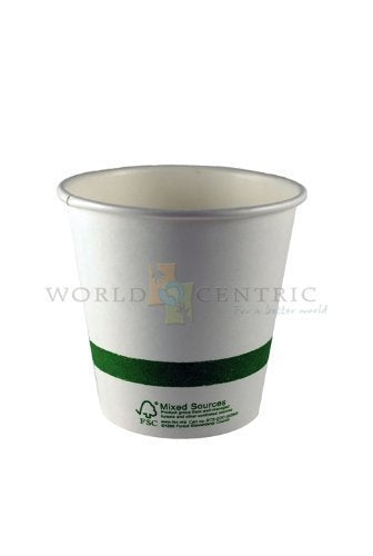 World Centric's 100% Biodegradable, 100% Compostable Paper PLA-Lined 4 Ounce Espresso Cup (Package of 200)