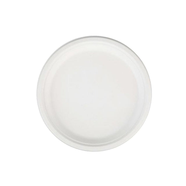 Go-Green Eco-Friendly 100% compostable, Sugarcane Fiber, Disposable 7-Inch Plate (1000)