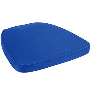 Prime Products Royal Blue Chair Pad | Seat Padded Cushion |Polycore Thread Soft Fabric, Straps and Removable Zippered Cover